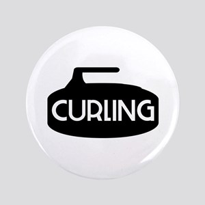 Curling Rock Button