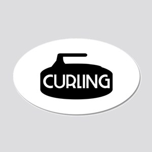 Curling Rock Wall Decal
