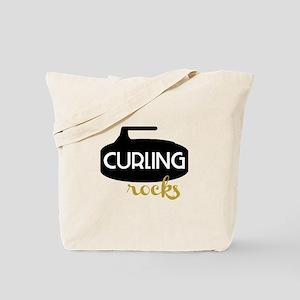 Curling Rocks Tote Bag