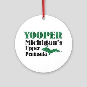 Yooper Michigan's U.P. Ornament (Round)