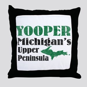 Yooper Michigan's U.P. Throw Pillow