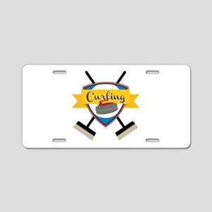 Curling Logo Aluminum License Plate