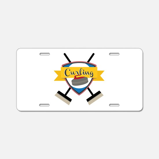 Curling Logo Aluminum License Plate