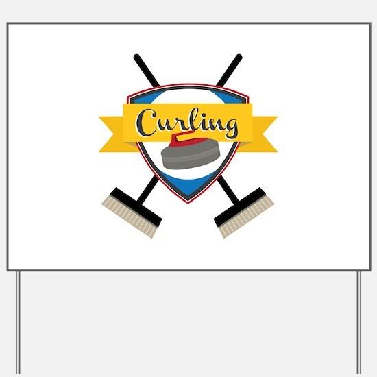 Curling Logo Yard Sign