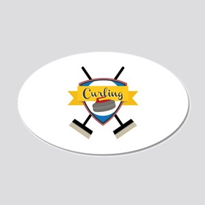 Curling Logo Wall Decal