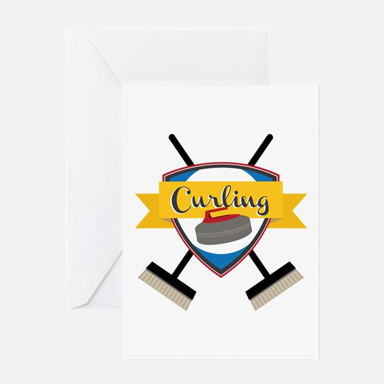 Curling Logo Greeting Cards
