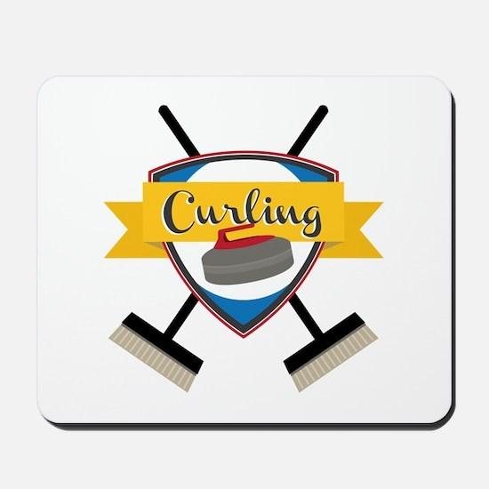 Curling Logo Mousepad