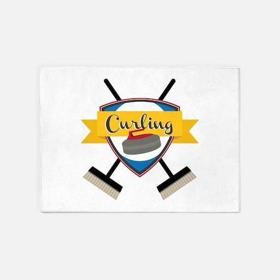 Curling Logo 5'x7'Area Rug