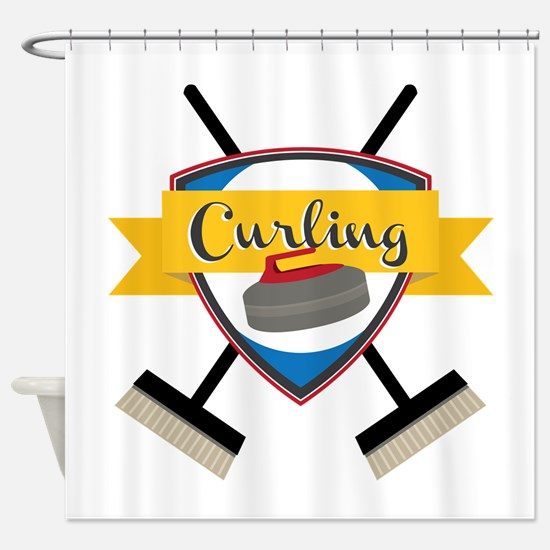Curling Logo Shower Curtain
