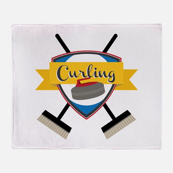 Curling Logo Throw Blanket