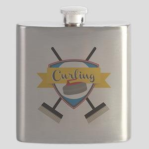 Curling Logo Flask