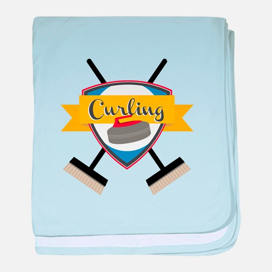 Curling Logo baby blanket