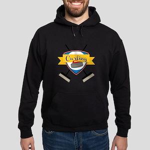 Curling Logo Hoodie