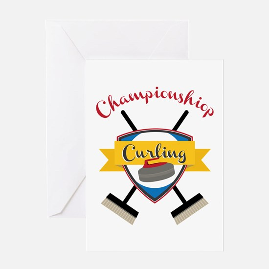 Championship Curling Greeting Cards