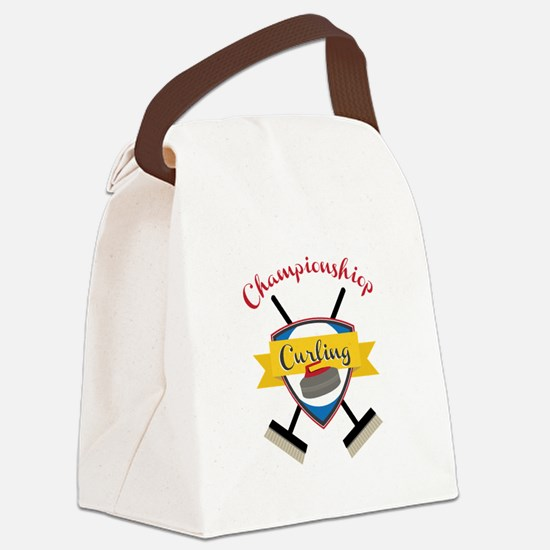 Championship Curling Canvas Lunch Bag