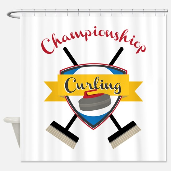 Championship Curling Shower Curtain