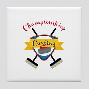 Championship Curling Tile Coaster
