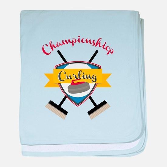 Championship Curling baby blanket