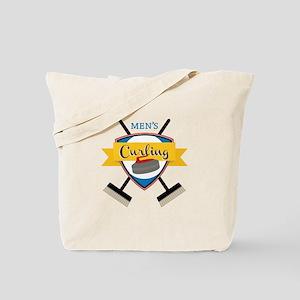 Mens Curling Tote Bag