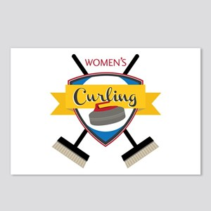 Womens Curling Postcards (Package of 8)