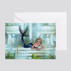 MERMAID PALACE Greeting Card