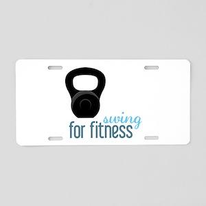 Kettlebell Fitness Aluminum License Plate