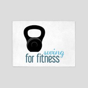 Kettlebell Fitness 5'x7'Area Rug