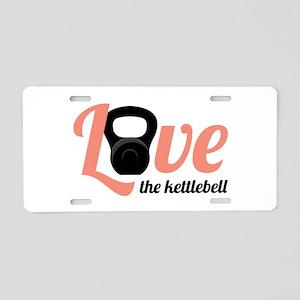 Kettlebell Love Aluminum License Plate
