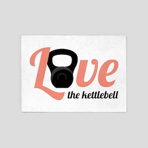 Kettlebell Love 5'x7'Area Rug