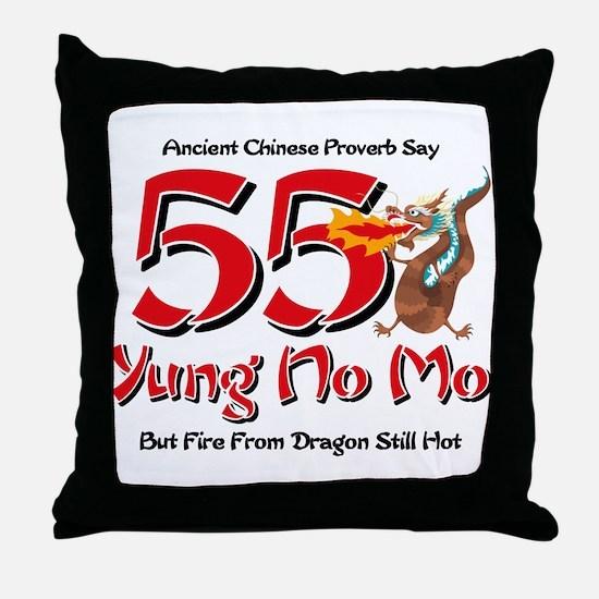 Yung No Mo 55th Birthday Throw Pillow