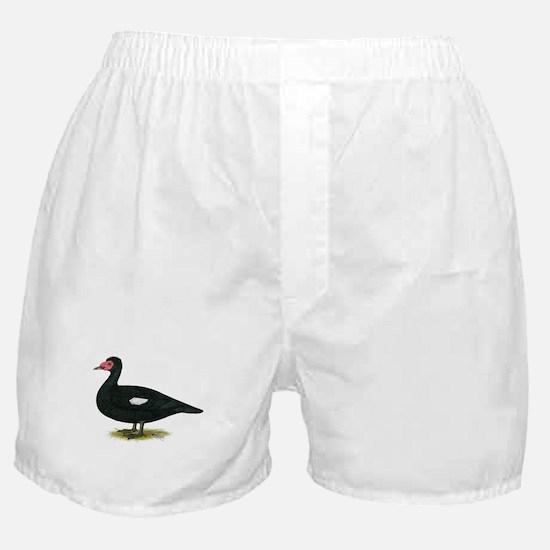 Muscovy Black Drake Boxer Shorts