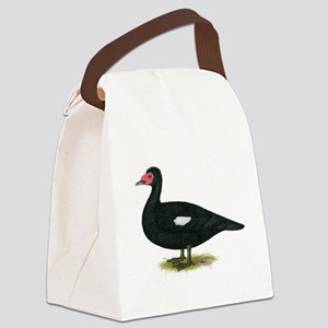 Muscovy Black Drake Canvas Lunch Bag