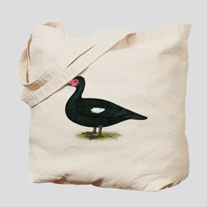 Muscovy Black Drake Tote Bag