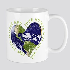 Love your Mother Earth Day Heart Mugs