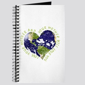 Love your Mother Earth Day Heart Journal