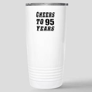 Cheers To 95 Stainless Steel Travel Mug