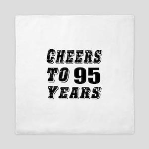 Cheers To 95 Queen Duvet