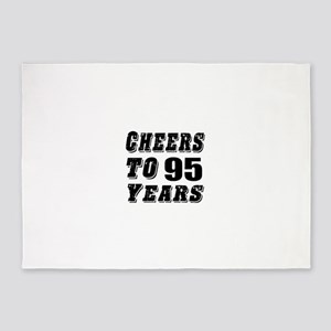 Cheers To 95 5'x7'Area Rug