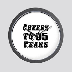 Cheers To 95 Wall Clock