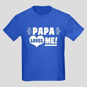 Papa Loves Me Kids Dark T-Shirt