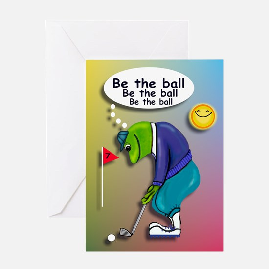 Frog Golfer - Be the Ball Greeting Card