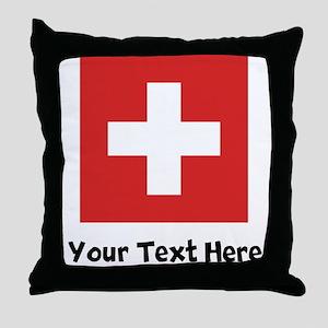 Swiss Flag Throw Pillow