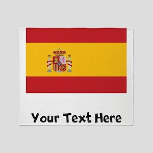 Spanish Flag Throw Blanket