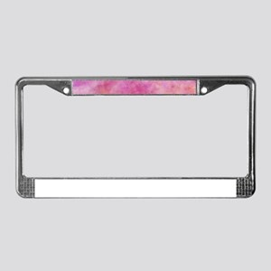 Cotton Candy Pink Watercolor License Plate Frame