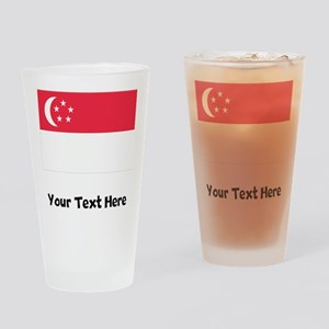 Singaporean Flag Drinking Glass