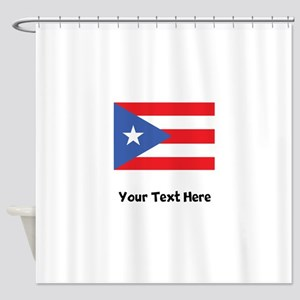 Puerto Rican Flag Shower Curtain