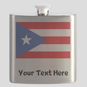 Puerto Rican Flag Flask