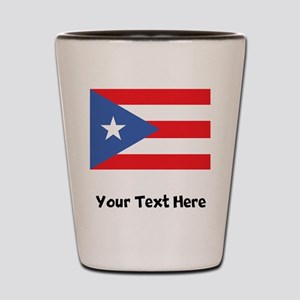 Puerto Rican Flag Shot Glass