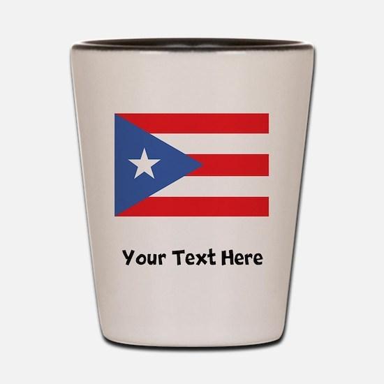 Puerto Rican Flag Shot Glass