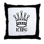 King Symbol 2 Throw Pillow